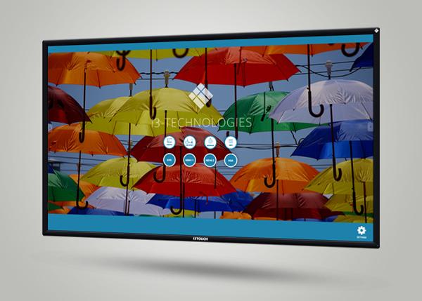 Excellent écran interactif tactile doté de la technologie tactile V-Sense rapide et précise.